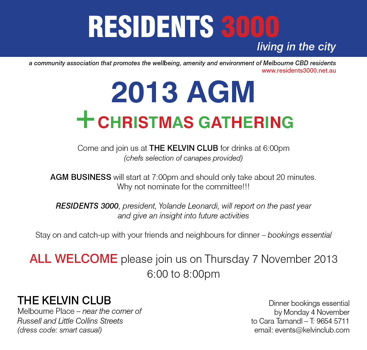 AGM email 2013