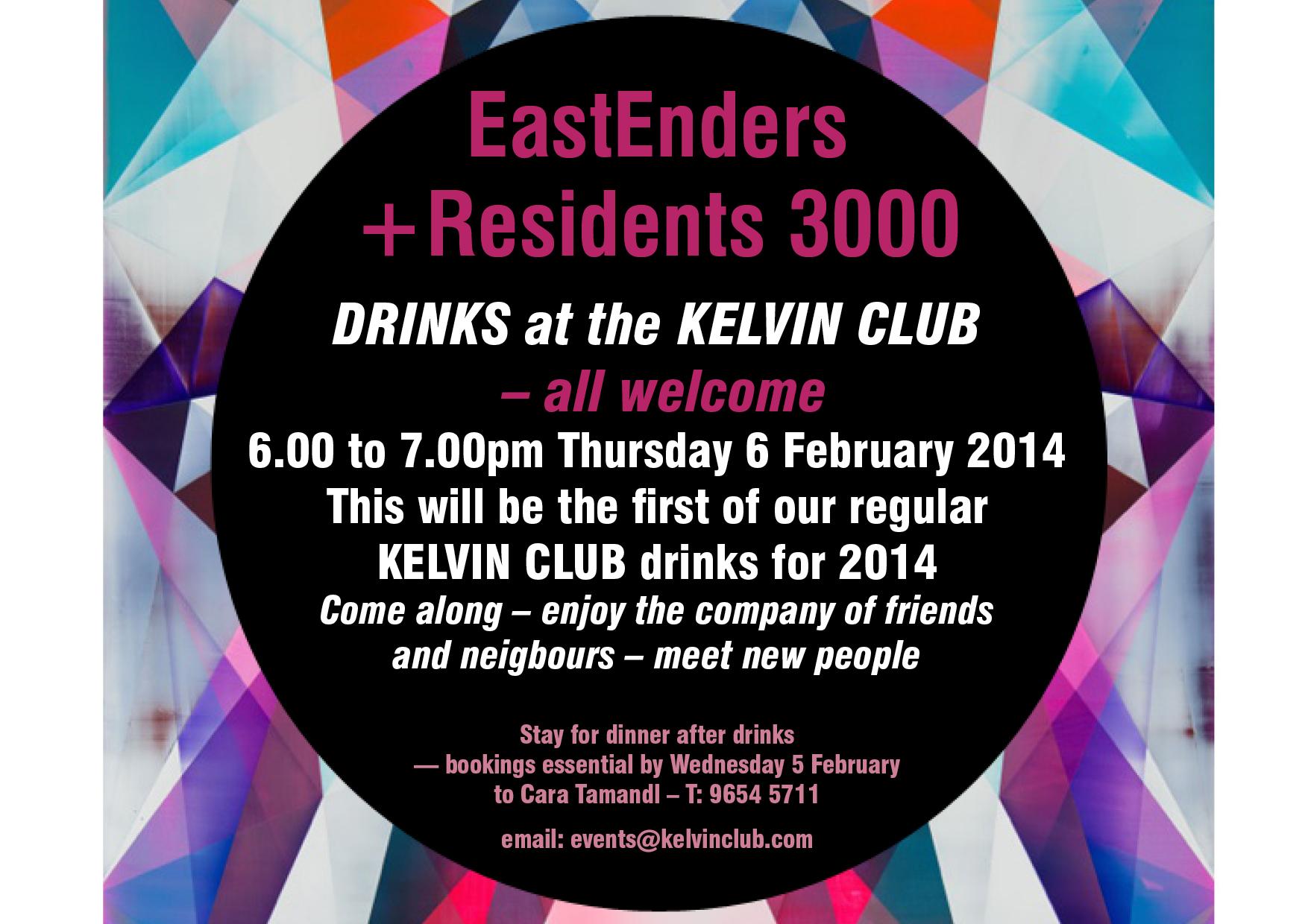 Residents3000 & Eastenders drinks