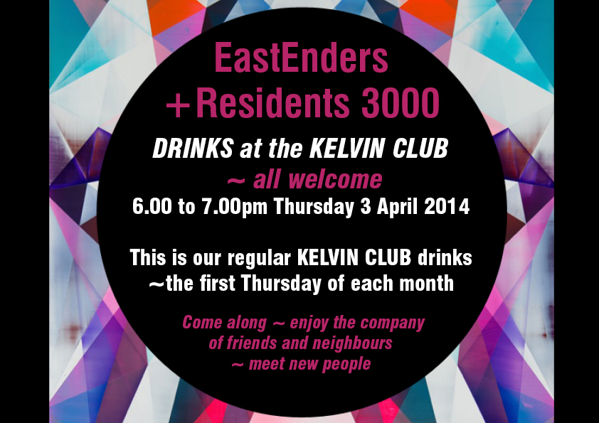Monthly Drinks at Kelvin Club